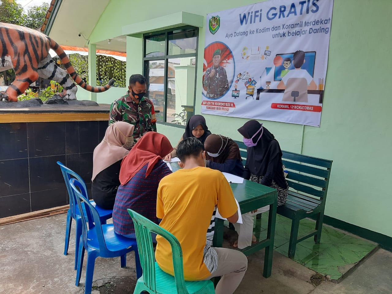 Sudah Berjalan Pekan Kegiatan Belajar Daring Kantor Aula Koramil Jajaran Kodim 0612 Tasikmalaya Indoartnews Com